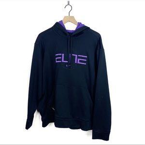 Nike Elite Therma Fit Black Purple Kobe Hoodie